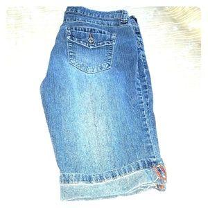 Anchor Blue Bermuda Jean Shorts - PRICE SLASHED